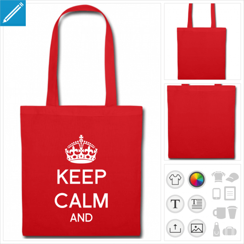 tote bag keep calm à personnaliser