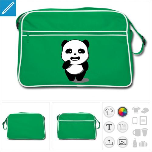 sac retro panda à créer en ligne