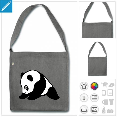 sac bébé panda personnalisable