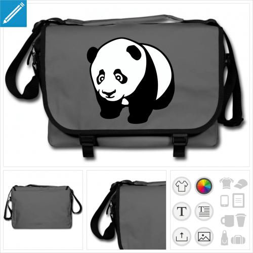sac panda à personnaliser et imprimer en ligne