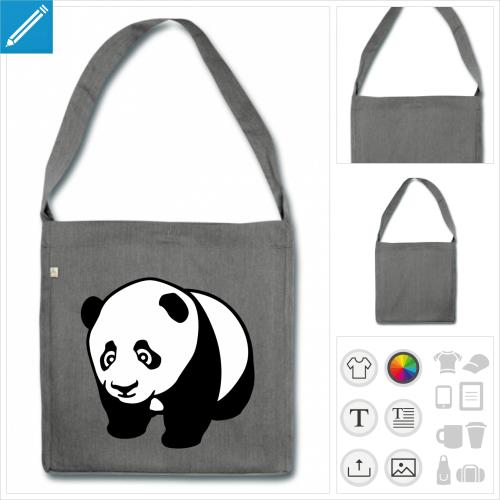 sac panda mignon à personnaliser