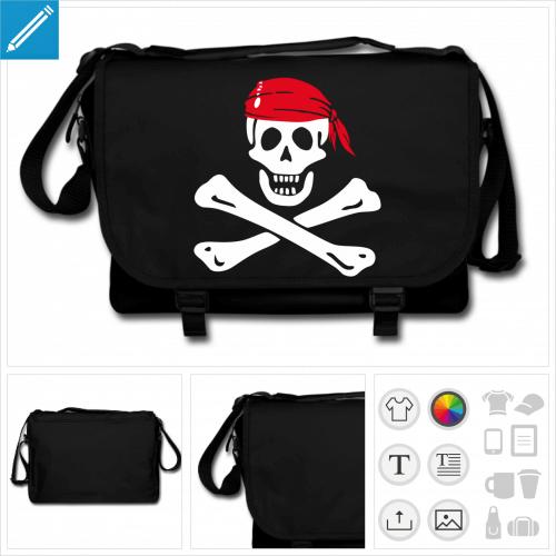 sac de cours pirate à personnaliser