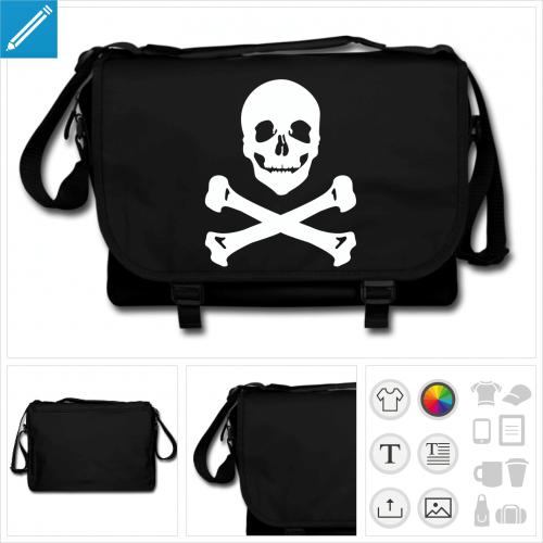 sac pirate personnalisable, impression à l'unité