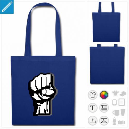 sac tissu pixel à personnaliser et imprimer en ligne