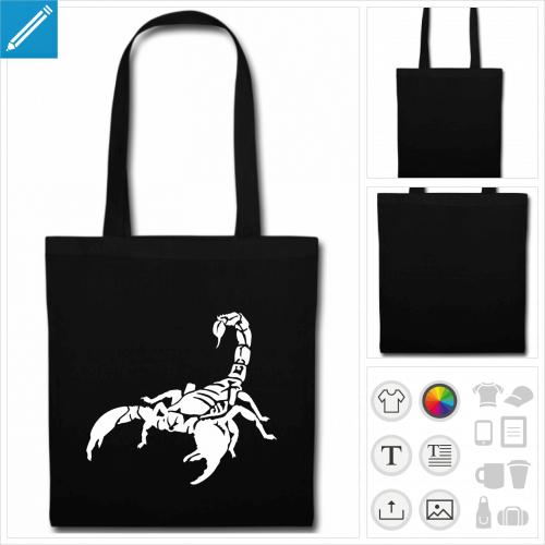 sac de courses scorpion dessin à imprimer en ligne