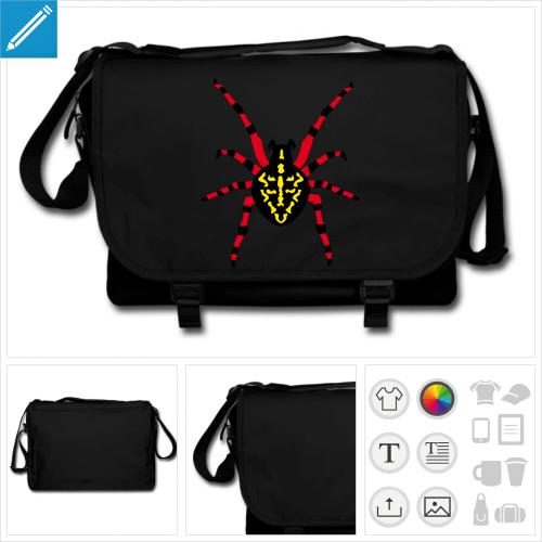 sac à bandoulière araignée personnalisable