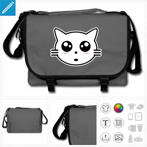 sac chaton à personnaliser en ligne
