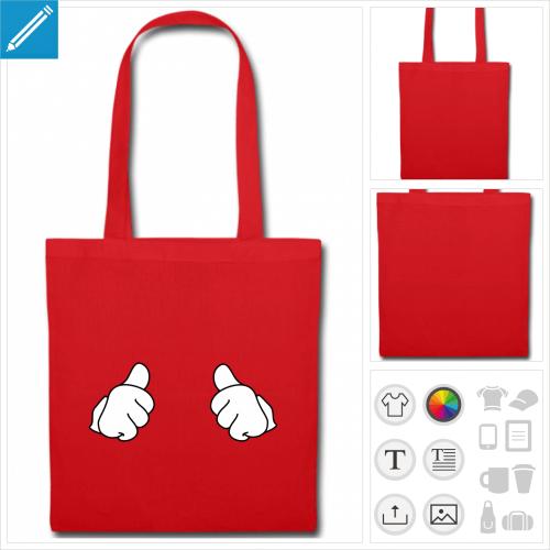 sac tissu thumbs up à imprimer en ligne