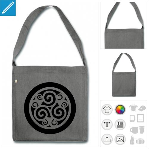 sac à bandoulière celtique à personnaliser