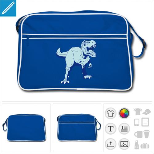 sac à bandoulière T-rex personnalisable