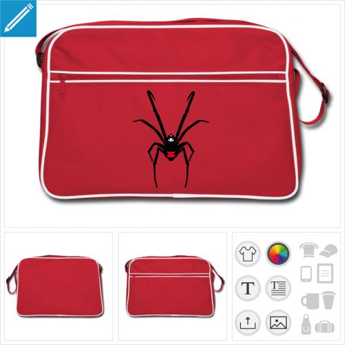 sac vintage araignée personnalisable