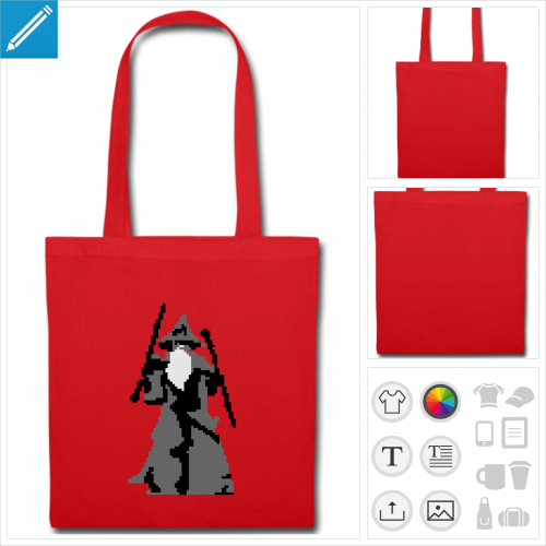 tote bag you shall not pass à personnaliser en ligne