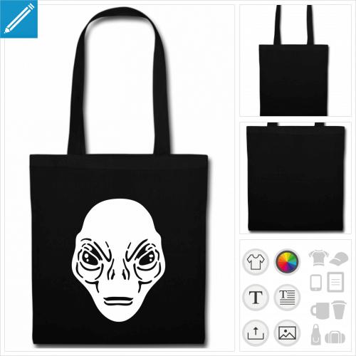 tote bag extraterrestre à imprimer en ligne