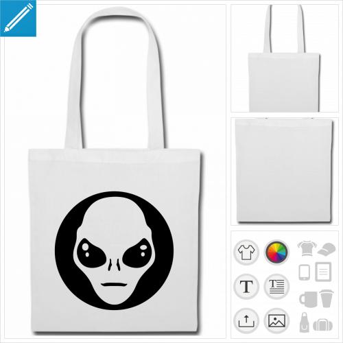 sac alien à imprimer en ligne
