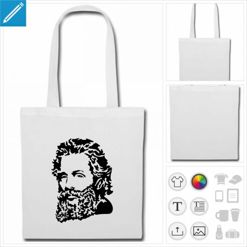 sac tissu Herman Melville à personnaliser en ligne