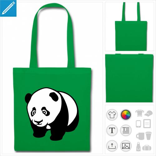 sac panda kawaii à personnaliser en ligne