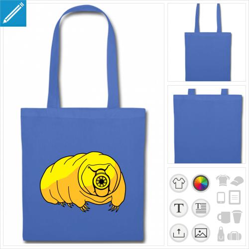 sac à courses ourson d'eau à personnaliser et imprimer en ligne