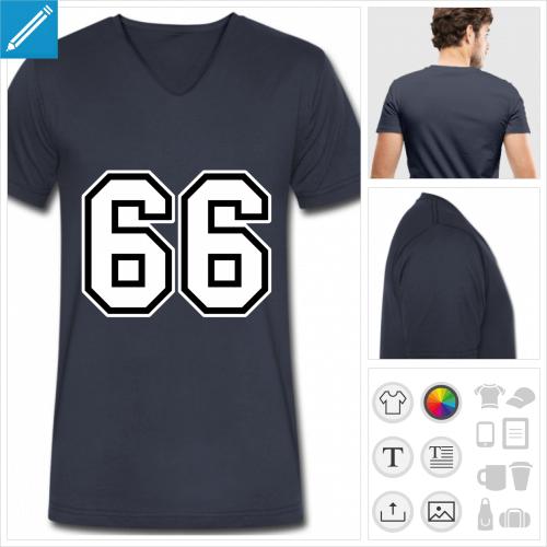 t-shirt homme 66 personnalisable