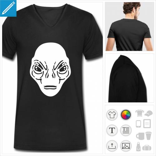 t-shirt homme ovni à créer soi-même