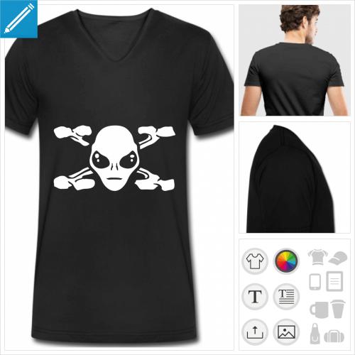 t-shirt pour homme x files à personnaliser, impression unique