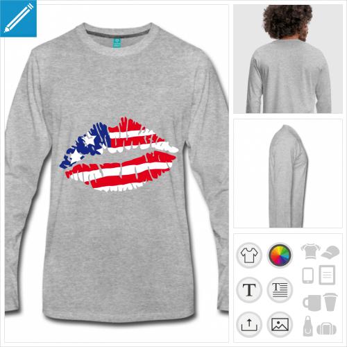 t-shirt homme Amérique personnalisable