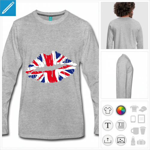 t-shirt homme angleterre personnalisable