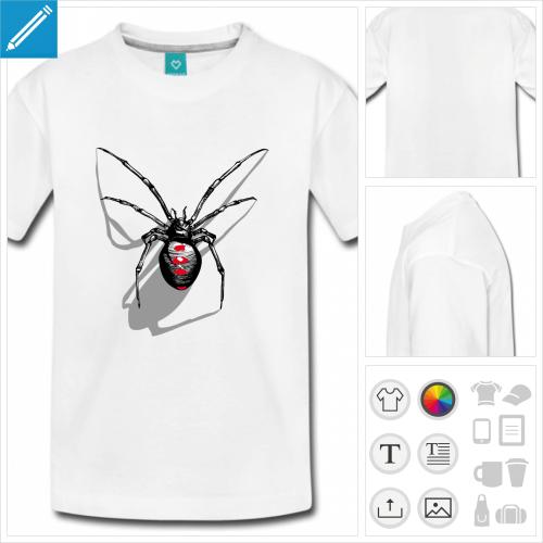 t-shirt adolescent araignée à imprimer en ligne