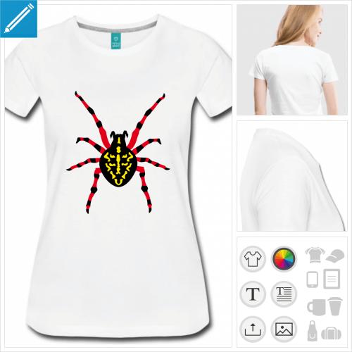 t-shirt araignée à personnaliser en ligne