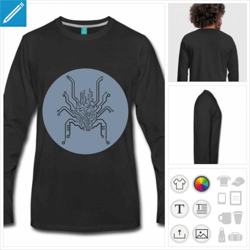 t-shirt homme circuit imprimé personnalisable