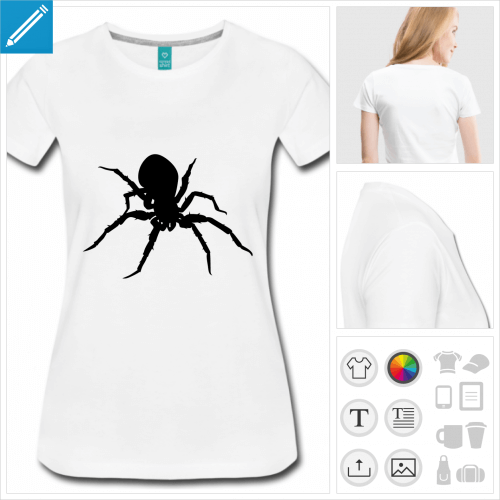 t-shirt femme mygale à personnaliser