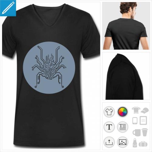 t-shirt manches courtes circuit imprimé à personnaliser et imprimer en ligne