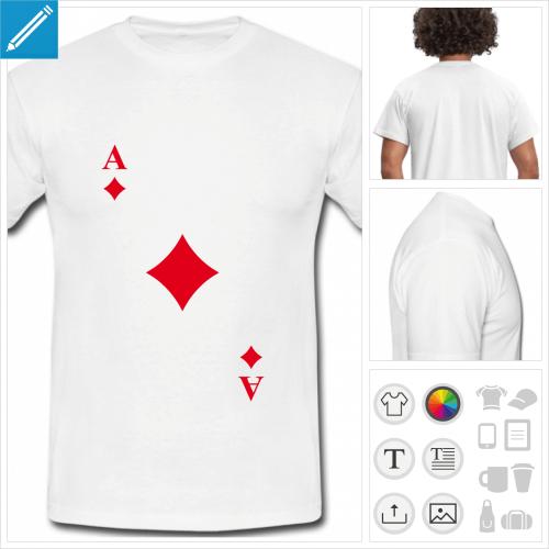t-shirt homme carte personnalisable, impression à l'unité