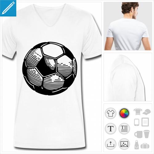 t-shirt homme football à imprimer en ligne