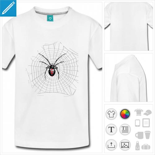 t-shirt basic araignée à personnaliser et imprimer en ligne