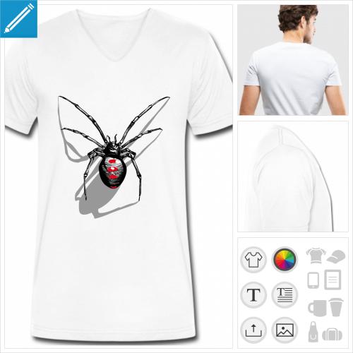 t-shirt simple araignée à imprimer en ligne