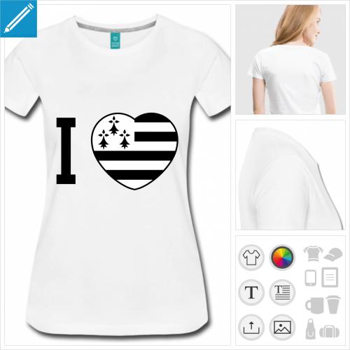 t-shirt femme bretagne à créer en ligne