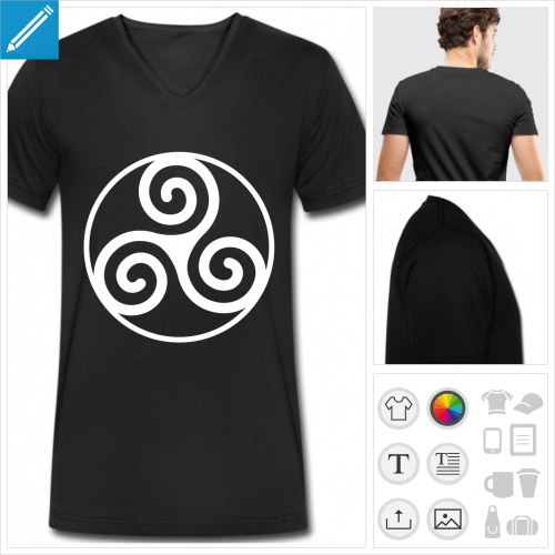 t-shirt Triskel breton à créer en ligne