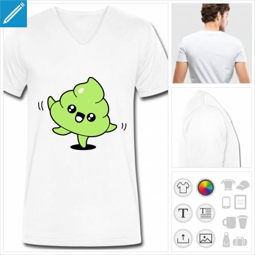 t-shirt caca à personnaliser et imprimer en ligne