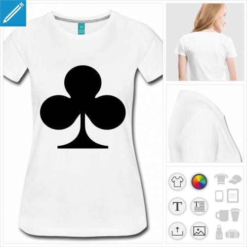 t-shirt manches courtes carte à personnaliser et imprimer en ligne