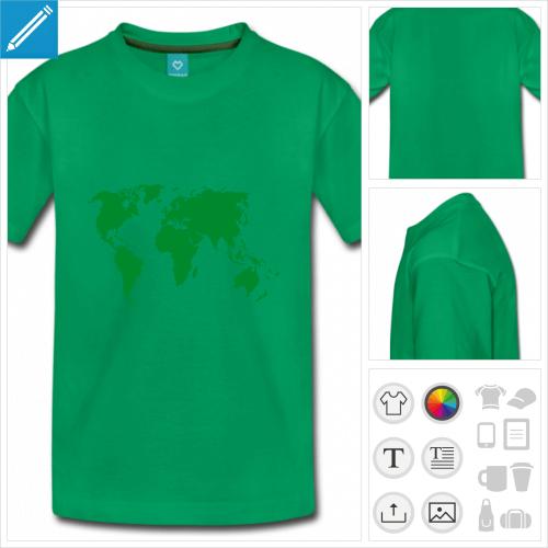 t-shirt poru ado Terre à personnaliser