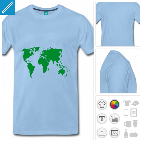 t-shirt pour homme Terre à créer soi-même
