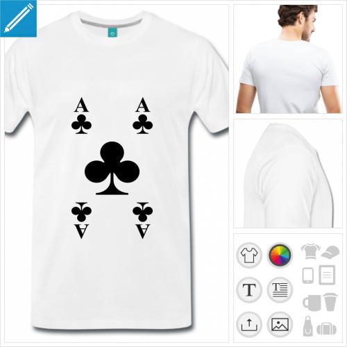 t-shirt homme cartes à jouer à personnaliser en ligne