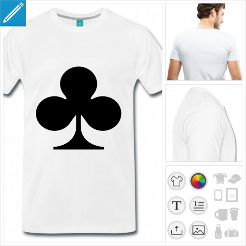 t-shirt carte de jeu à personnaliser en ligne
