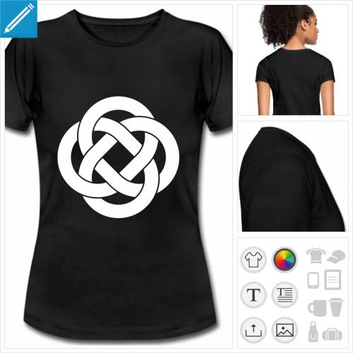 t-shirt simple celte à créer soi-même