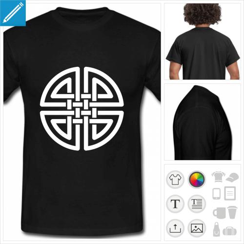 t-shirt noir celtique à créer soi-même