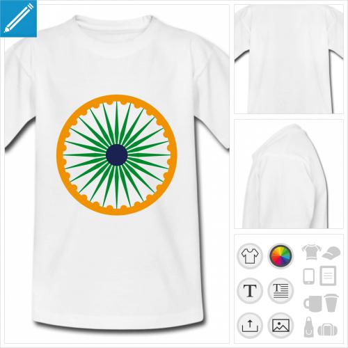 t-shirt simple chakra Inde à personnaliser, impression unique