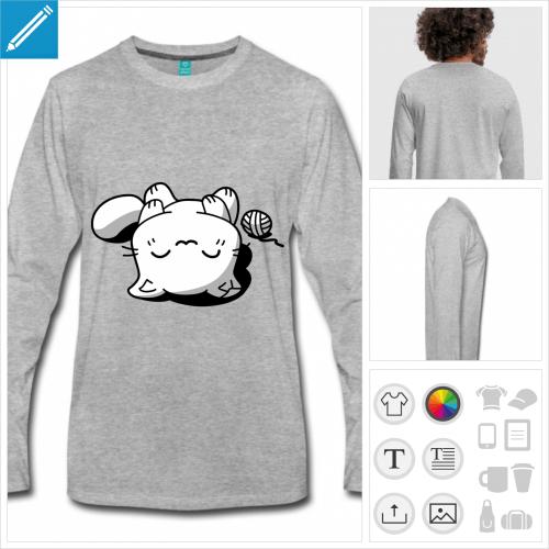 t-shirt chat à créer soi-même