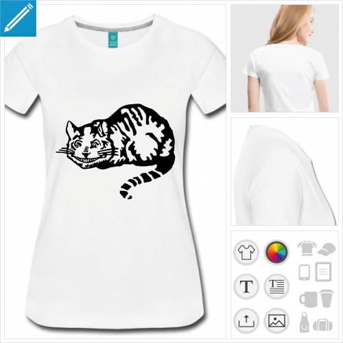 t-shirt chat Alice à personnaliser et imprimer en ligne