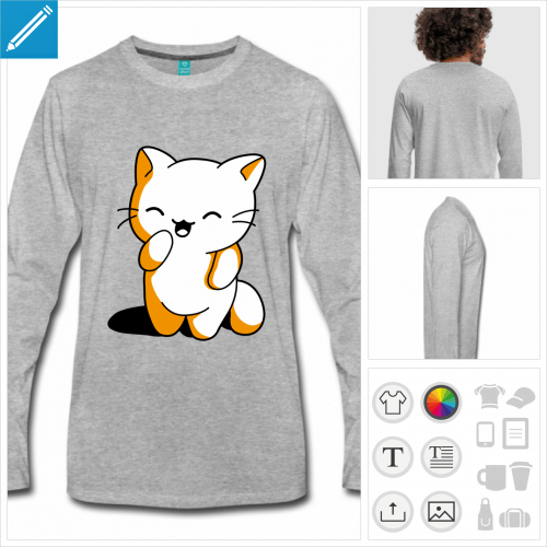 t-shirt chaton kawaii à créer en ligne