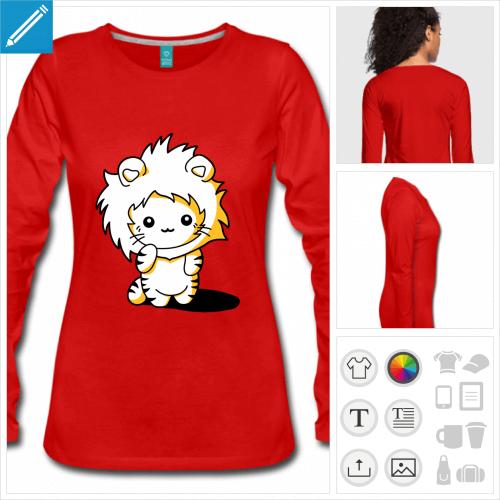 t-shirt chaton kawaii à créer soi-même